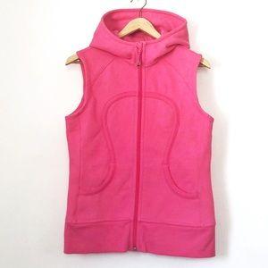 Lululemon Suns Out Guns Out Scuba Hoodie Vest Pink